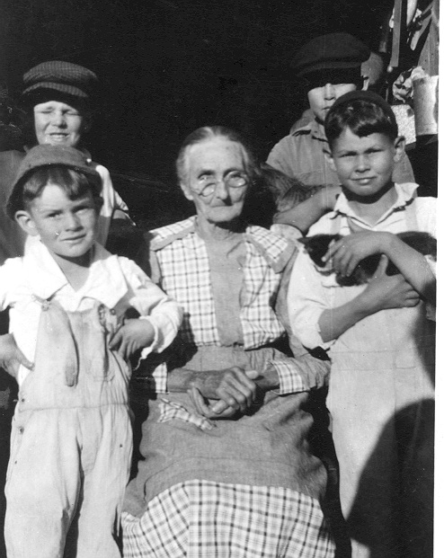 Grandmother Purcell with the Purcell Brothers